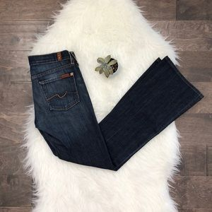 7 For All Mankind Blue Flare Fit Jeans